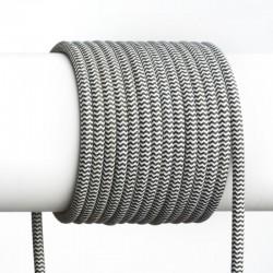 Kábel elek. textilný H03VV 2x0,75 300/300V čierny-biely