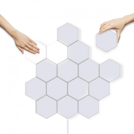 Dizajnové nástenné dotykové osvetlenie svetelnými panelmi HEXAGON TOUCH LED PANEL