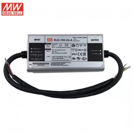 LED napájací zdroj 24V-96W IP65 Mean Well XLG-100-24-A