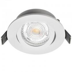 Rámček výklopný okrúhly MILANO PremiumLUX-biely