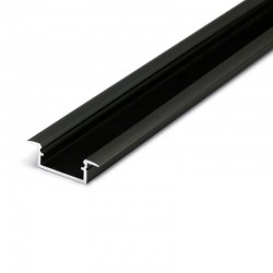Hliníkový profil pre LED pásy BEGTIN12 - zápustný - čierny anodovaný