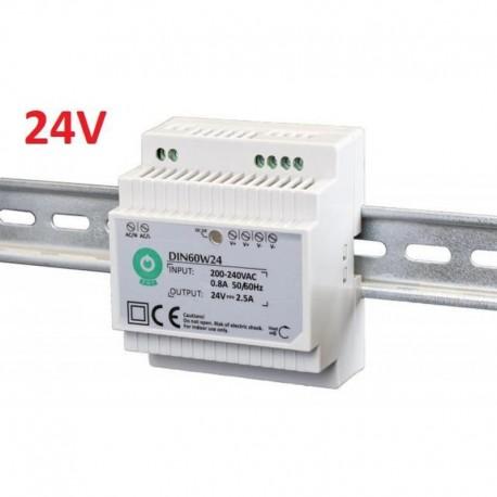 Napájací zdroj na DIN lištu 24V-60W POS DIN60W24