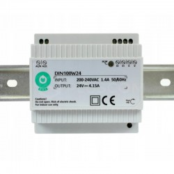 Napájací zdroj na DIN lištu 24V-100W POS DIN100W24