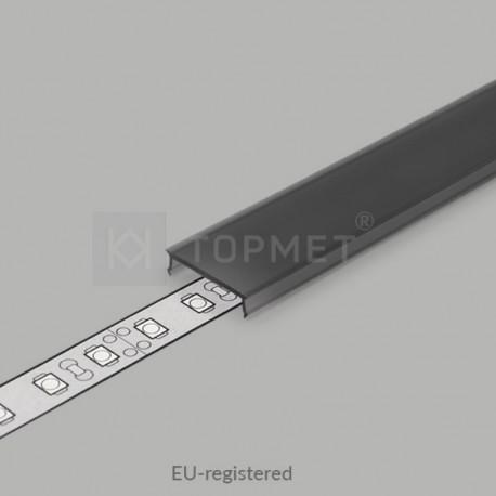 Naklikávací difúzor čierny-dymový pre profily SMART16, SMART-IN16