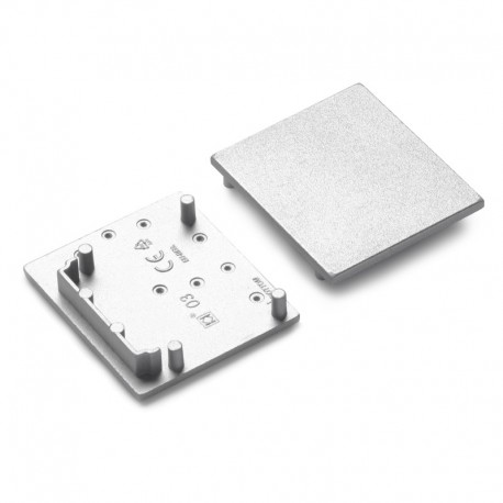 Koncovky pre hliníkový profil VARIO30-03 plastové - strieborné pár