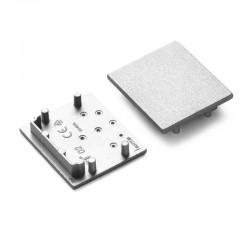 Koncovky pre hliníkový profil VARIO30-02 - plast - strieborné/pár