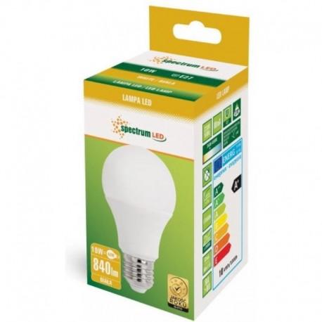 LED žiarovka E27 A60 LED 10W 810Lm Denná biela 4000K spectrumLED WOJ13898