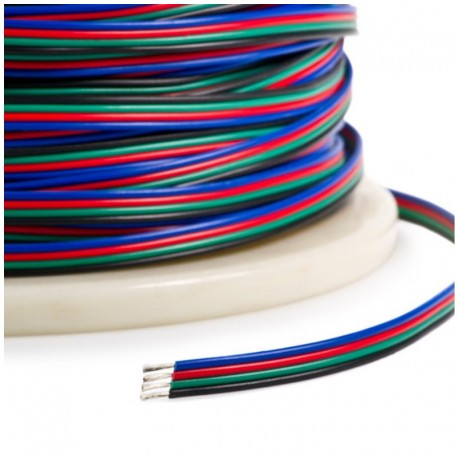 Napájací vodič pre RGB LED pásy - štvorlinka 22AWG 4x0,32mm