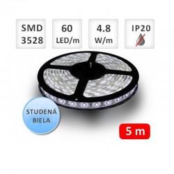 Flexibilný LED pás 60LED/m SMD3528 4,8W/m 200Lm Studená biela OPTONICA